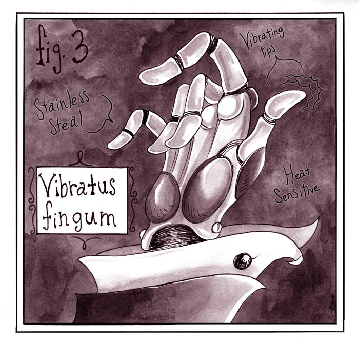vibrating hand, erotic graphic novel
